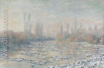 Ice Floes 1880 - Claude Monet reproduction oil painting