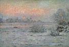 Snow Covered Landscape Dusk 1880 - Claude Monet