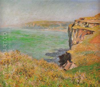 Cliff at Varengeville 1882 - Claude Monet reproduction oil painting