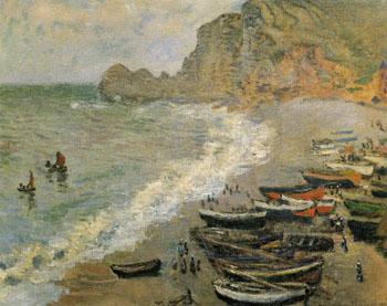 Etretat 1883 - Claude Monet reproduction oil painting