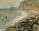 Etretat 1883 - Claude Monet reproduction oil painting
