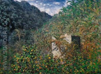 Valley of Sasso Bordighera 1884 - Claude Monet reproduction oil painting