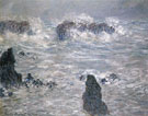 Storm Coast of Belle Ile 1886 - Claude Monet