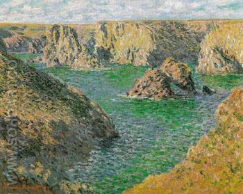 Port Domois Bella Ile 1886 - Claude Monet reproduction oil painting