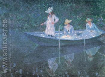 The Boat at Giverny 1887 - Claude Monet reproduction oil painting