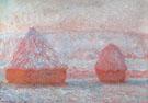 Hay Stacks Morning Effect 1889 - Claude Monet