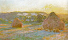 Hay Stacks End of Summer 1890 - Claude Monet reproduction oil painting