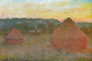 Hay Stacks End of Day Autumn 1890 - Claude Monet
