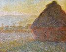 Hay Stacks Sunset 1890 - Claude Monet