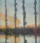 Poplars 1891 - Claude Monet reproduction oil painting