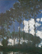 Poplars Banks of the Epte 1891 - Claude Monet