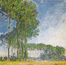 Poplars View from the Marsh 1891 - Claude Monet