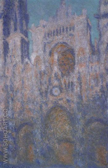 Rouen Cathedral Facade 1892 - Claude Monet reproduction oil painting