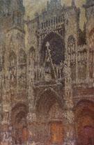 Rouen Cathedral Facade Grey Day 1892 - Claude Monet
