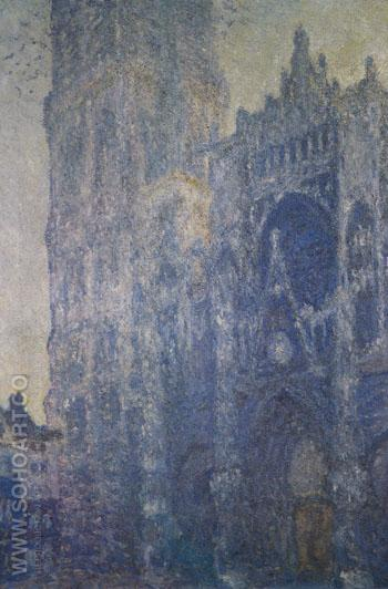 Rouen Cathedral Facade and Tower Morning Effect 1892 - Claude Monet reproduction oil painting