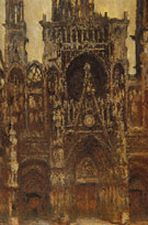 Rouen Cathedral the Portal Seen Head on Harmony in Brown 1892 - Claude Monet