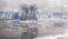 Ice Floes Bennecourt 1893 A - Claude Monet reproduction oil painting