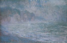 Cliffs at Pourville Rain 1896 - Claude Monet reproduction oil painting