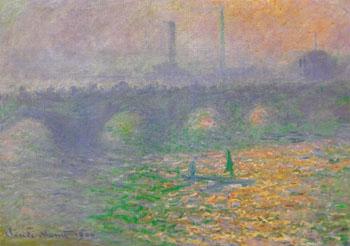 Waterloo Bridge London Winter 1899 - Claude Monet reproduction oil painting