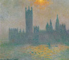 Parliament Sunlight Effect in the Fog 1904 - Claude Monet