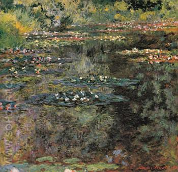 The Water Lily Pond Giverny 1904 - Claude Monet reproduction oil painting