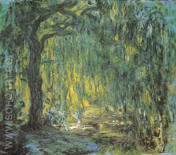 Weeping Willow 1918 - Claude Monet reproduction oil painting