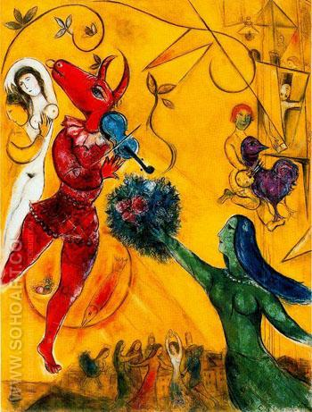 The Dance c1950 - Marc Chagall reproduction oil painting