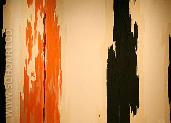 1955 H - Clyfford Still reproduction oil painting