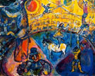 The Circus Horse 1964 - Marc Chagall reproduction oil painting