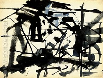 48 Series No 4 1948 - Franz Kline reproduction oil painting