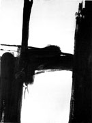 Black and White No 2 1960 - Franz Kline reproduction oil painting