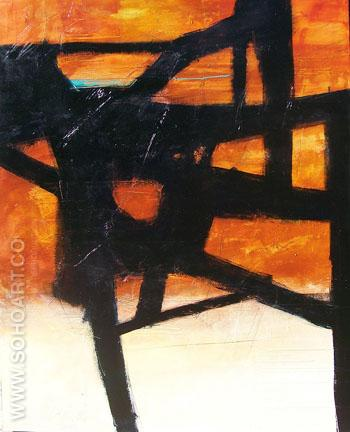 Homage II - Franz Kline reproduction oil painting