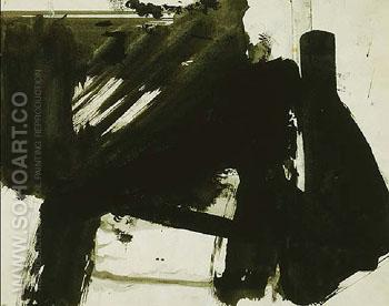 Untitled B - Franz Kline reproduction oil painting