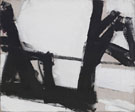 Untitled F - Franz Kline reproduction oil painting