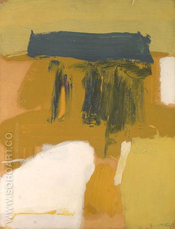 Zinc Yellows and Grey - Franz Kline reproduction oil painting