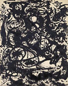 Black and White Number 6 1951 - Jackson Pollock