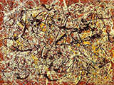 Mural on Indian Red Ground - Jackson Pollock