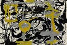 Number 12 A 1948 Yellow Gray Black - Jackson Pollock