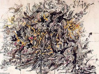 Untitled 15 - Jackson Pollock reproduction oil painting