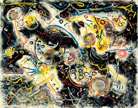 Untitled 1943 - Jackson Pollock reproduction oil painting