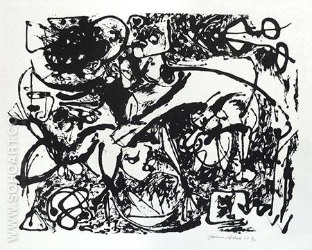 Untitled 1951 - Jackson Pollock reproduction oil painting