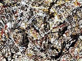 Untitled B - Jackson Pollock reproduction oil painting