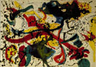 Untitled c1942 - Jackson Pollock reproduction oil painting