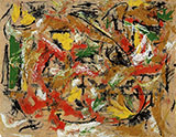 Untitled c1953 - Jackson Pollock reproduction oil painting
