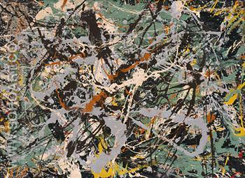 Untitled Green Silver c1949 - Jackson Pollock reproduction oil painting