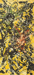 Vertical Painting - Jackson Pollock reproduction oil painting
