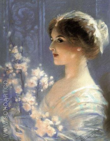 Portrait of a Lady - Hans Schlimarski reproduction oil painting