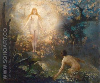 The Spring Nymph - Hans Schlimarski reproduction oil painting