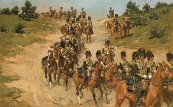Rigjende Artillerie Op de Heide - Jan Hoynck van Papendrecht reproduction oil painting