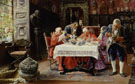 A Midday Feast 1896 - Jose Gallegos y Arnosa reproduction oil painting